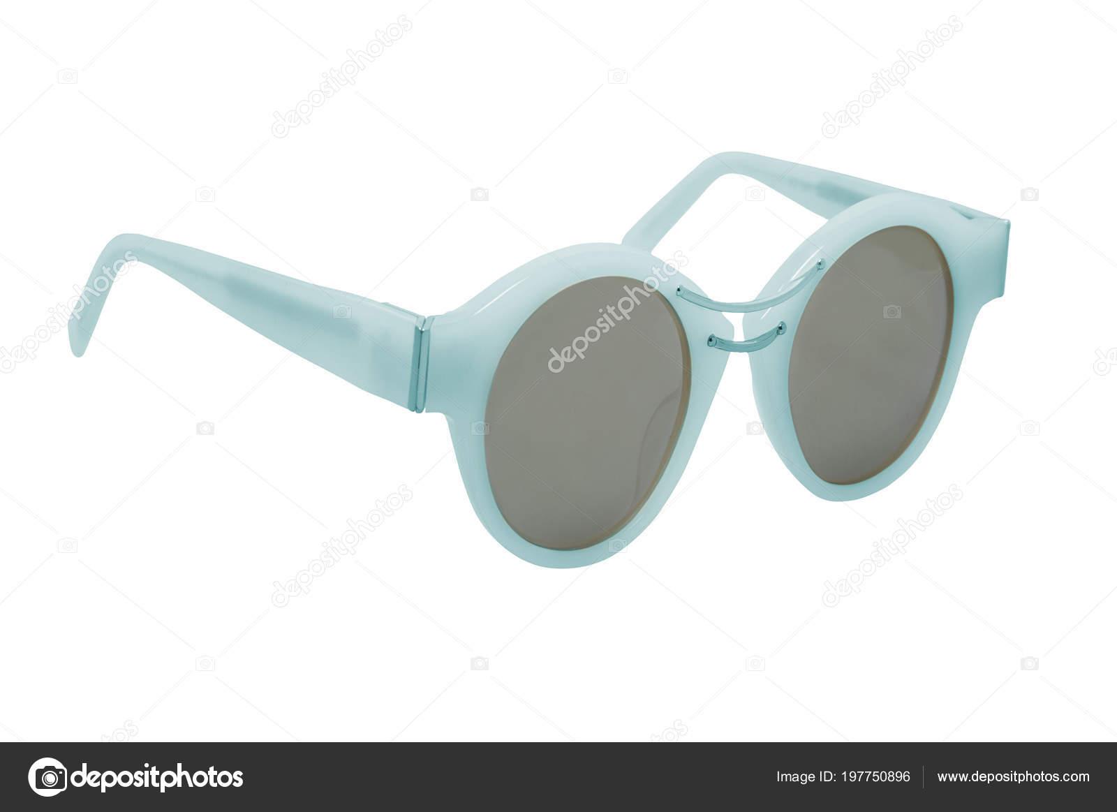 7ed248bced Μπλε Γυαλιά Ηλίου Γυναικών Απομονώνονται Λευκό Φόντο — Φωτογραφία Αρχείου