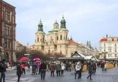 Praha, Česká republika, 01/03/2017, Katedrála svatého Mikuláše (Mikuláš). Staré město katedrála svatého Mikuláše (Mikuláš) patří do církve československé husitské, křesťanské národní církev, která oddělovala od katolické církve po 1 světové válce