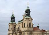 Praha, Česká republika, 01/03/2017, Katedrála svatého Mikuláše (Mikuláš) na starém náměstí. Staré město katedrála svatého Mikuláše (Mikuláš) patří do církve československé husitské, křesťanské národní církev, která oddělovala od katolické Chu