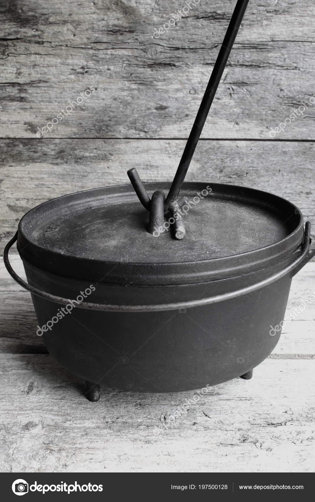 Cast Iron Dutch Oven Lid Lifter Stock Photo Enigmangels 197500128