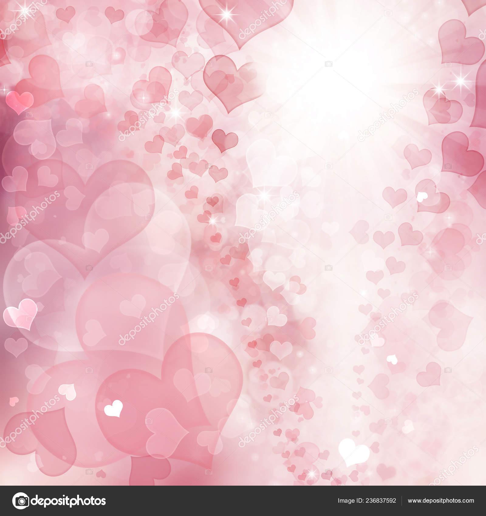 Valentine Hearts Abstract Pink Background Valentine Day