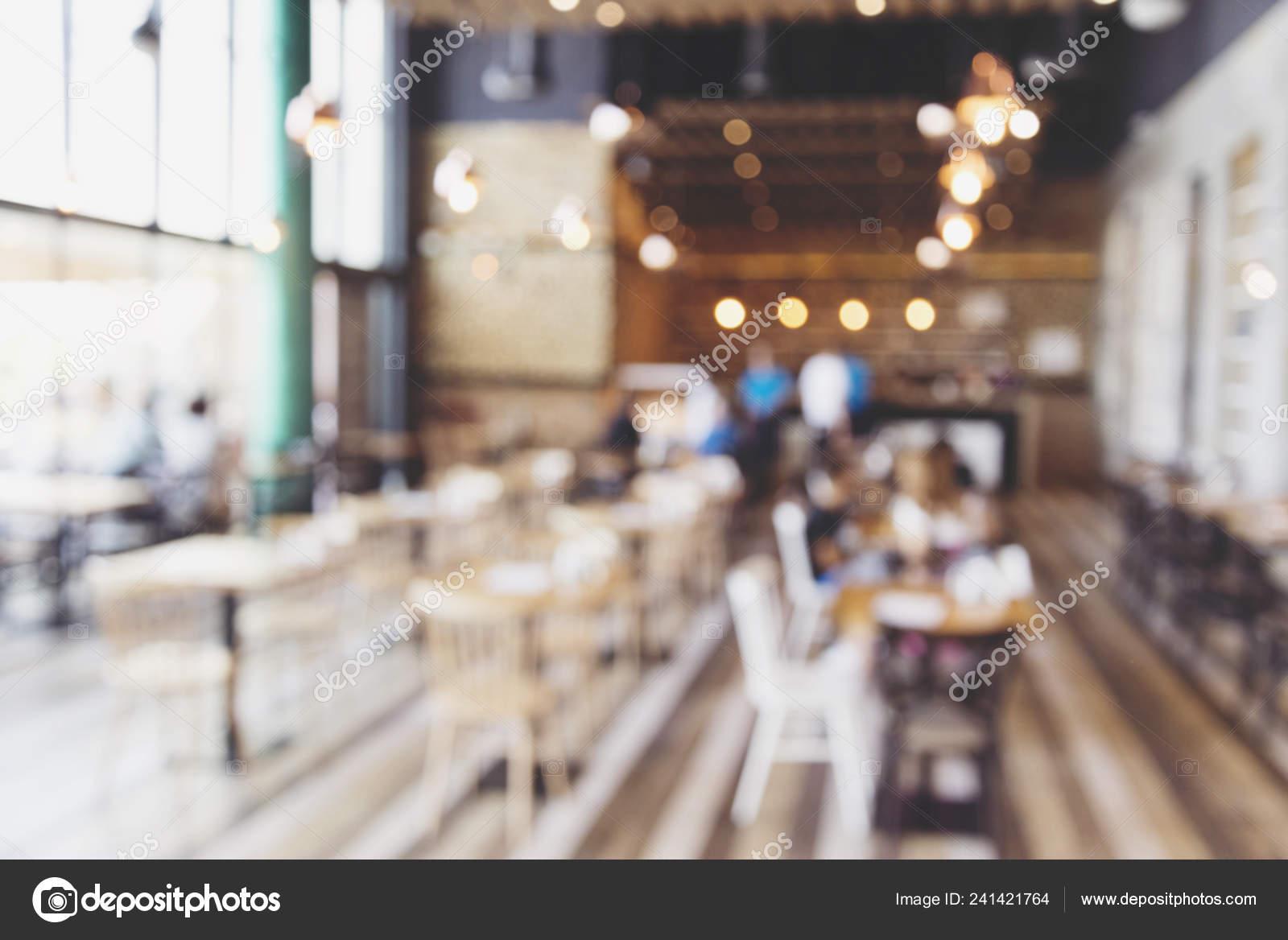 Blurred Background Modern Cafe Restaurant Table Blur Background Bokeh Light Stock Photo C Malija 241421764