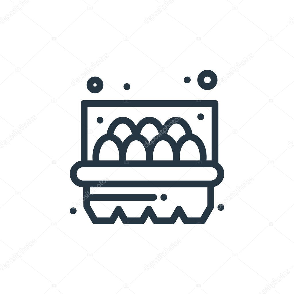 eggs vector icon. eggs editable stroke. eggs linear symbol for use on web and mobile apps, logo, print media. Thin line illustration. Vector isolated outline drawing.