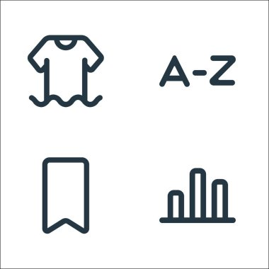 Marketplace line icons. linear set. quality vector line set such as finance, brand, alphabet icon