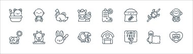 Animal welfare line icons. linear set. quality vector line set such as paw, gmo, wildlife, dog, scorpion, mice, boots, wildlife icon