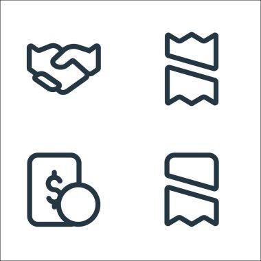 Marketplace line icons. linear set. quality vector line set such as receipt, money, receipt icon
