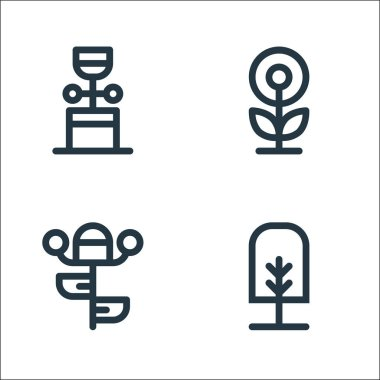 Tree and plant line icons. linear set. quality vector line set such as tree, botany, flower icon