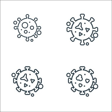 Viruses and diseases line icons. linear set. quality vector line set such as malaria, virus, herping icon