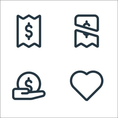 Marketplace line icons. linear set. quality vector line set such as love, payment, payment icon