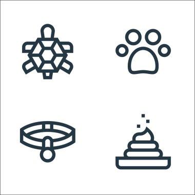 Pet shop line icons. linear set. quality vector line set such as poop, pet collar, pawprint icon
