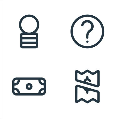Marketplace line icons. linear set. quality vector line set such as payment, dollar, help icon