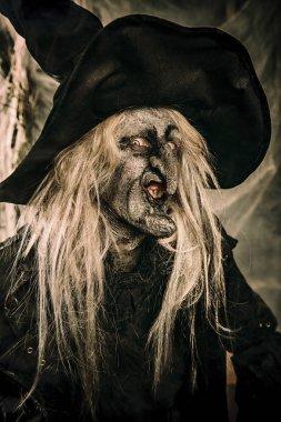 Scary wizard. Halloween. Horror film.
