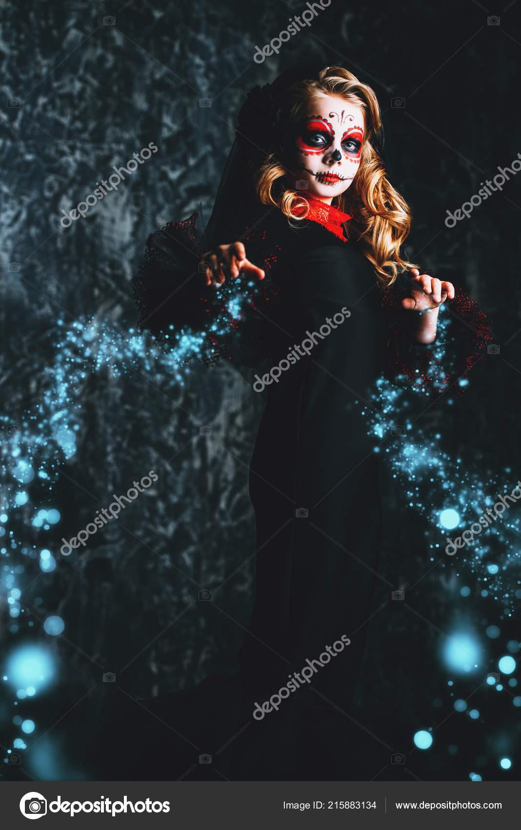 Sugar Skull Costume Adult Day of The Dead Catrina Dia de Los Muertos Halloween