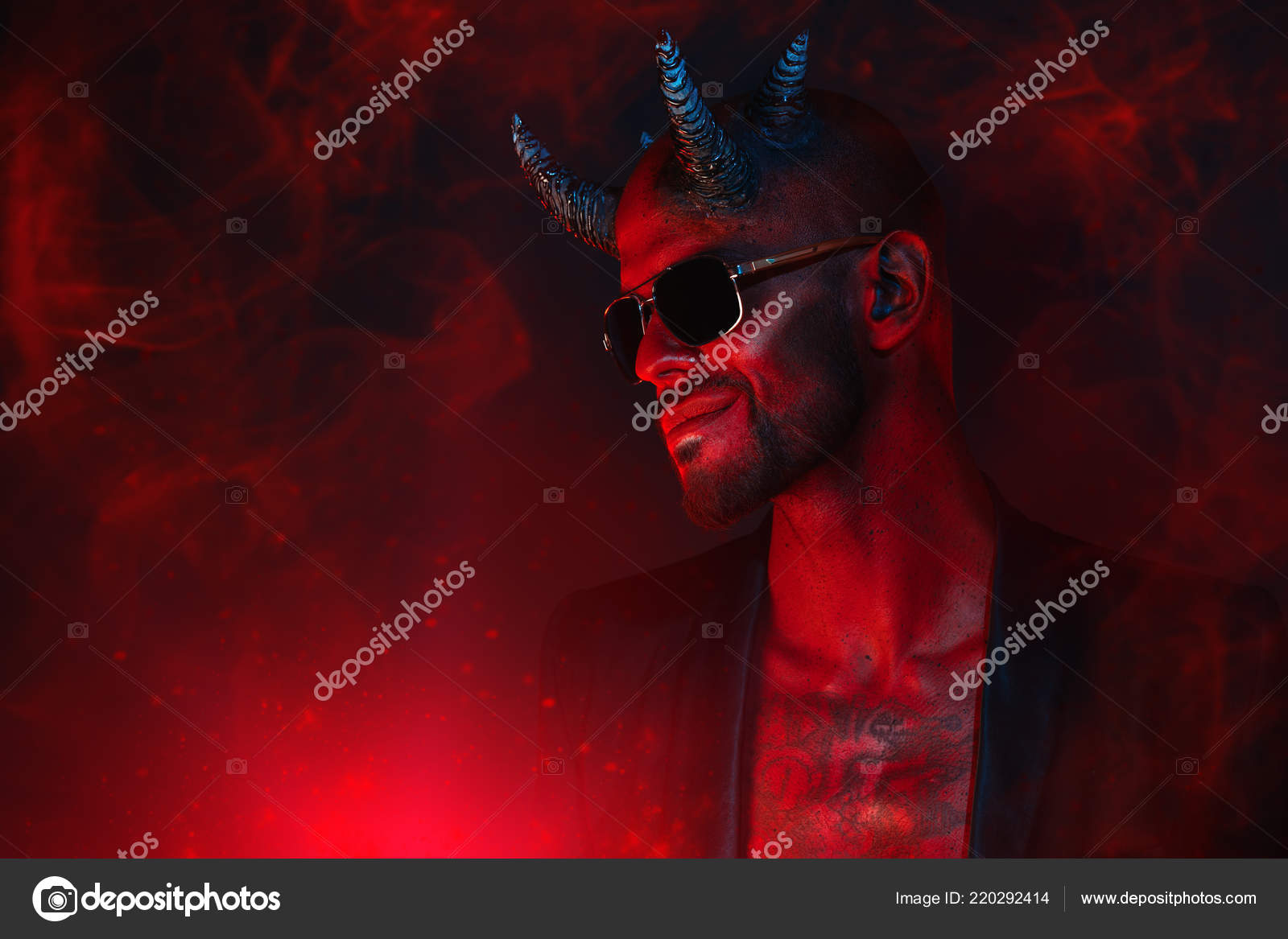 Portrait Bad Demon Sunglasses Horror Movie Nightmare Halloween