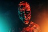 Detail strašidelný Strašidelný zombie. Halloween. Horor film.