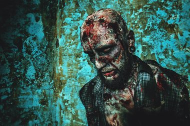 scary male zombie