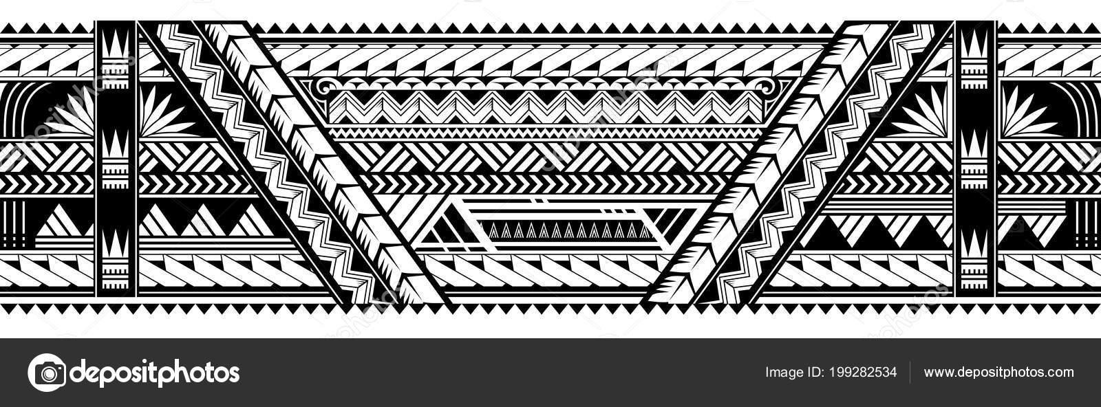 Maori Style Armband Tattoo Shape Stock Vector C Akv Lv 199282534