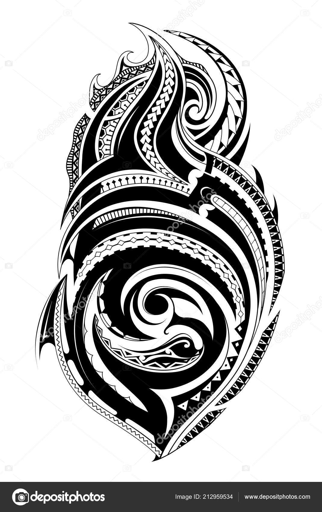 2913cb51f5f36 Maori style tattoo — Stock Vector © akv_lv #212959534