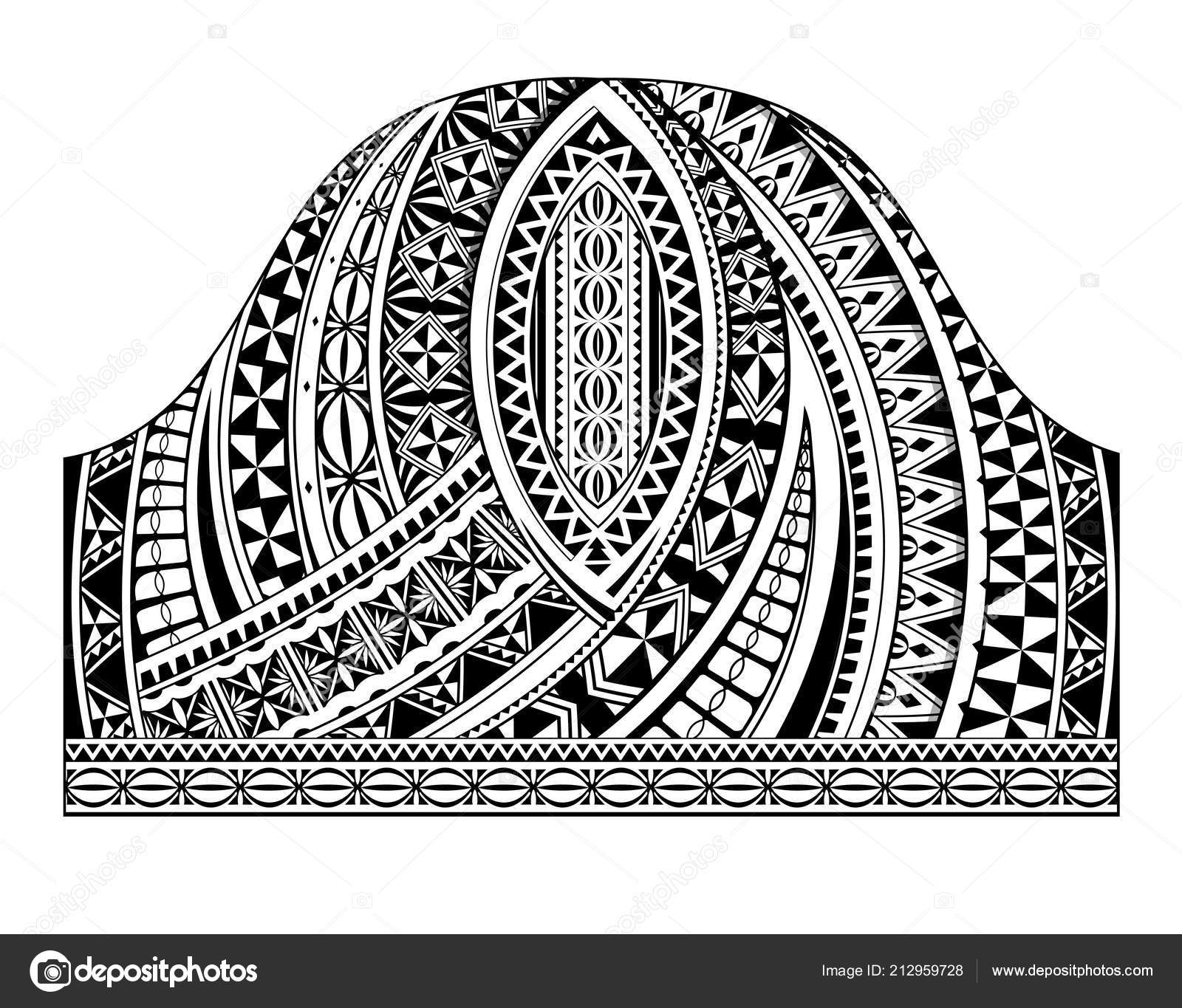 Polynesian Style Half Sleeve Tattoo Template Stock Vector Akvlv