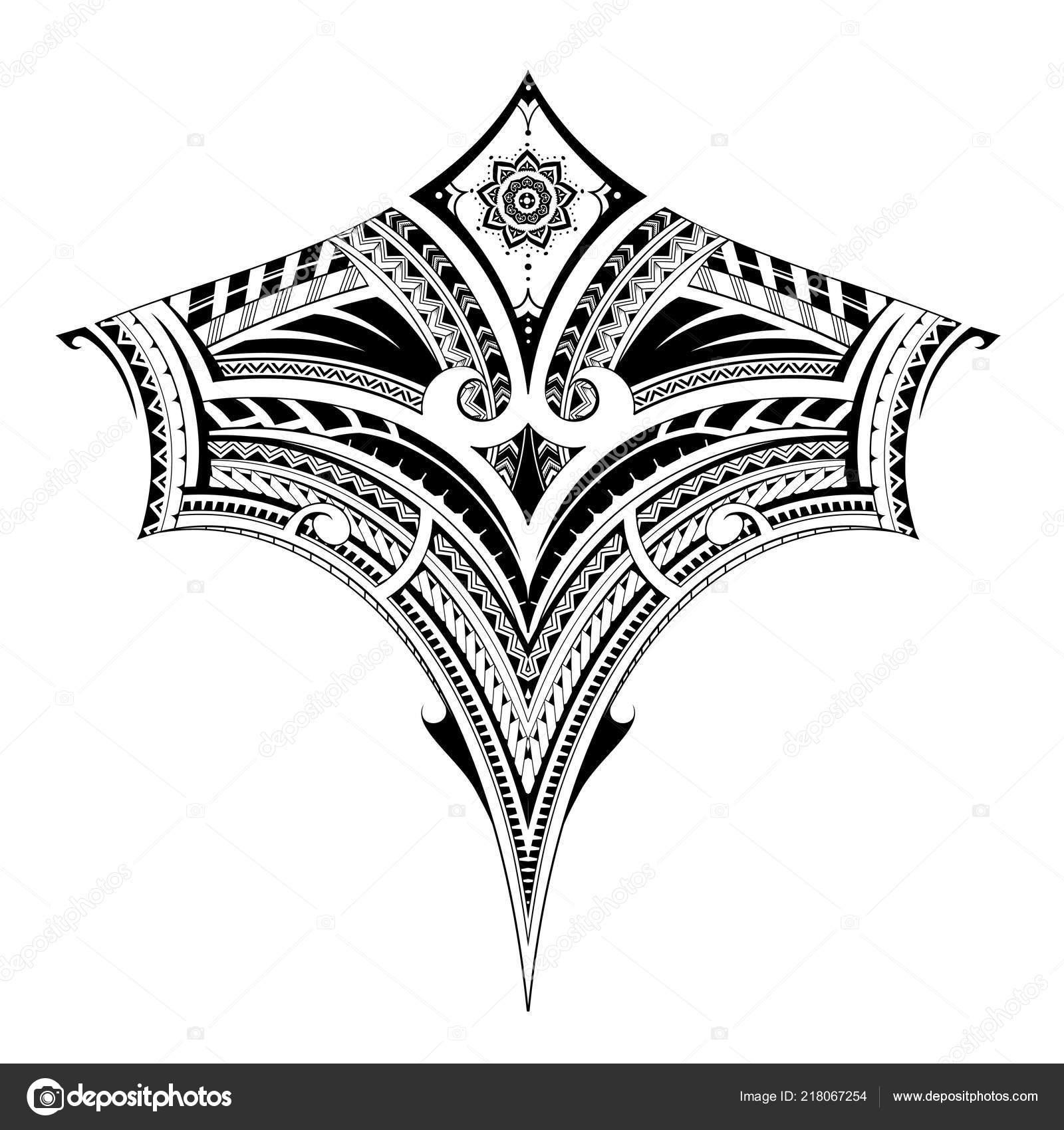 Tatuaje Tribal Del Arte Para El área Del Pecho Y La Espalda