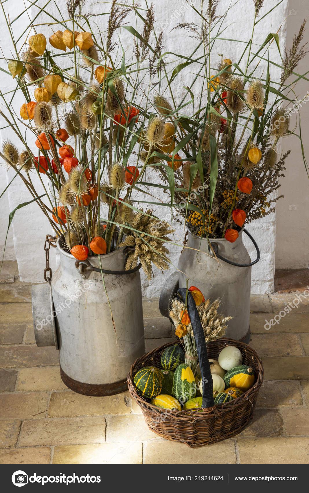 Mon Denmark September 2018 Interior Fanefjord Church Autumn Flowers Stock Photo C Kloeg008 219214624