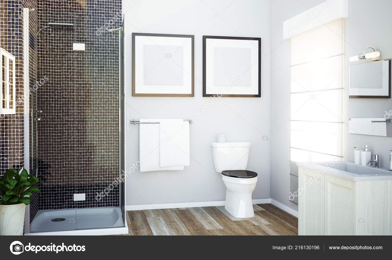 Images Bathroom Mockup Two Blank Frames Bathroom Mockup
