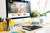 Graphic design studio showing ux design website