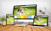 Photo pet website responsive design screen multidevices