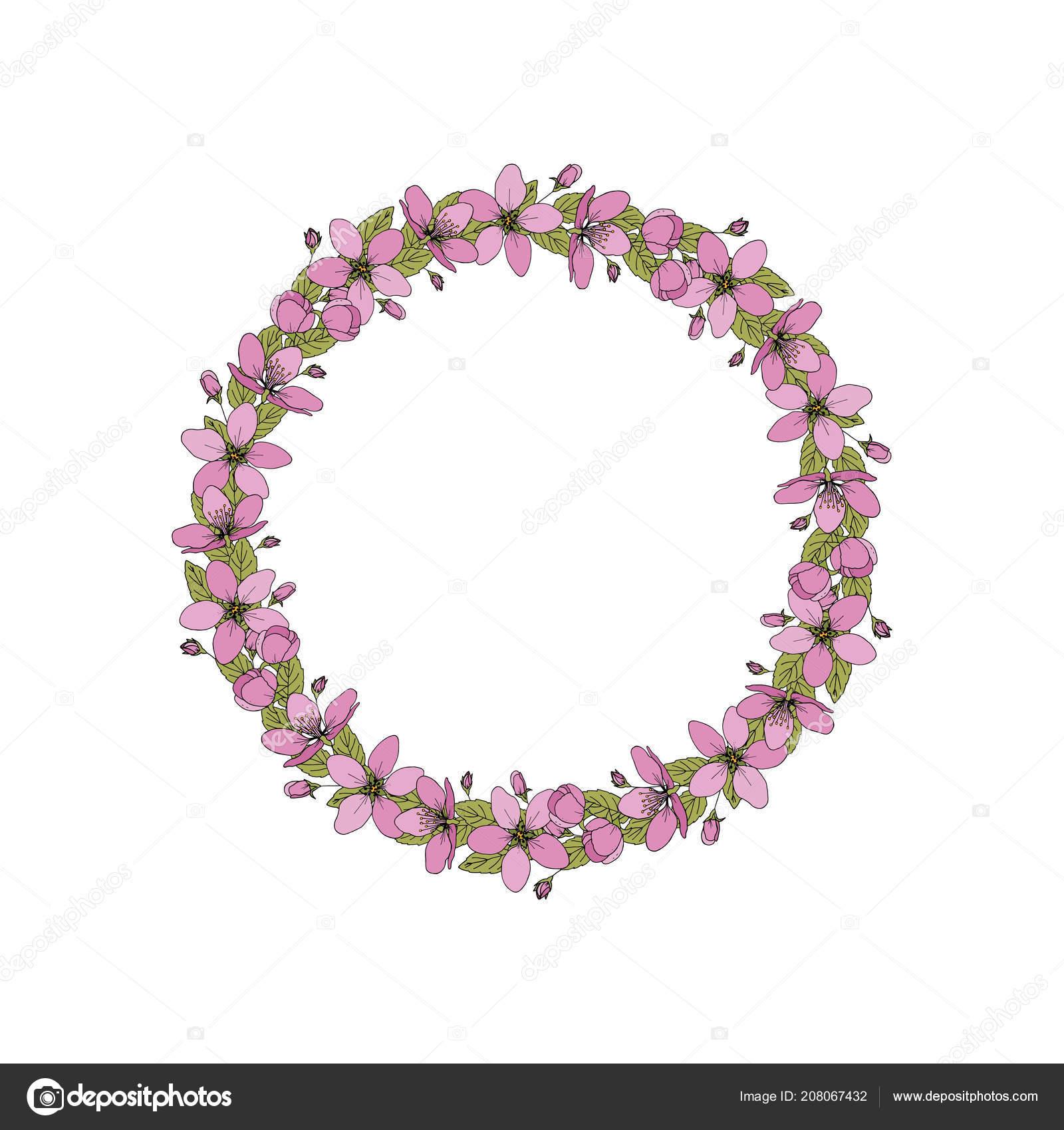 Vector flower wreath floral frame greeting invitation wedding cards vector flower wreath floral frame greeting invitation wedding cards design vetores de stock stopboris Images