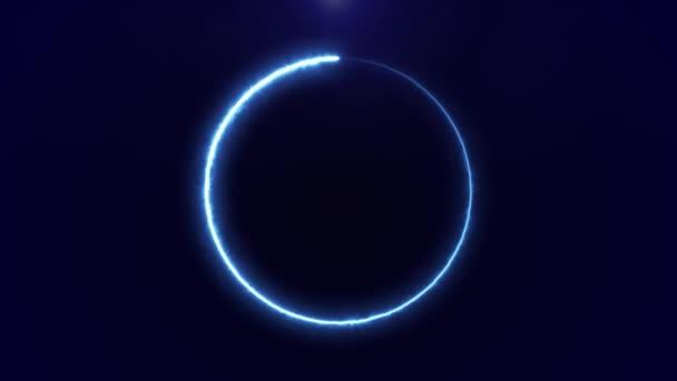 Abstraktní pozadí s elektrickým obloukem otočí donekonečna v animaci kruhu bezešvé smyčka 4k