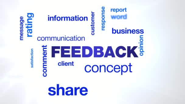 feedback concept comment communication customer business share information client message opinion animated word cloud background in uhd 4k 3840 2160