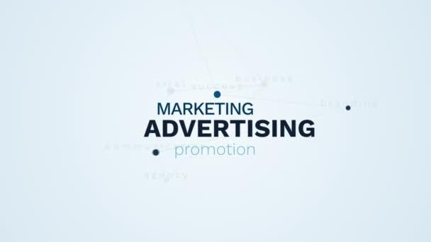 reklamní marketing propagace prodeje obchodní komerční úspěch značky komunikační agentura virové animovaný slovo cloud pozadí v uhd 4k 3840 2160