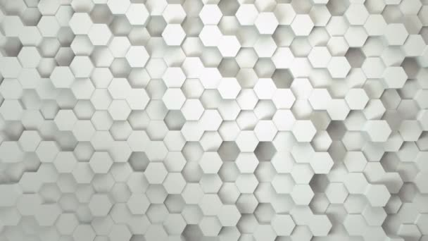 technology hexagon pattern background, Many white abstract geometric hexagons as wave, optical Illusion, computer generated 3D rendering backdrop