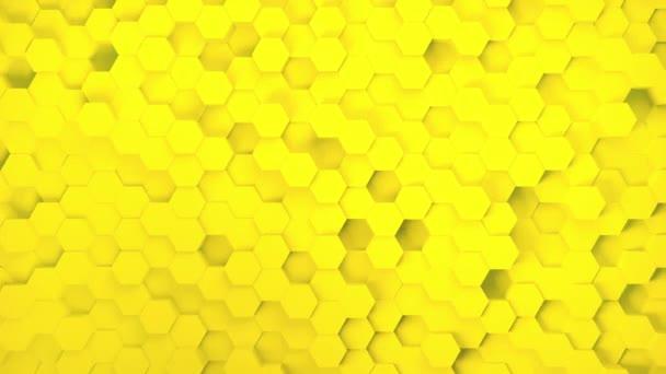 Absztrakt SciFi technológia hatszög mintás háttér technológiai háttér készült sárga hatszögek ragyogás hatása 4k Uhd 3840 2160