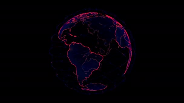 wireless internet data wifi connectivity by a global system of telecommunication satellites in render concept animation on black background 3d rendering in 4K