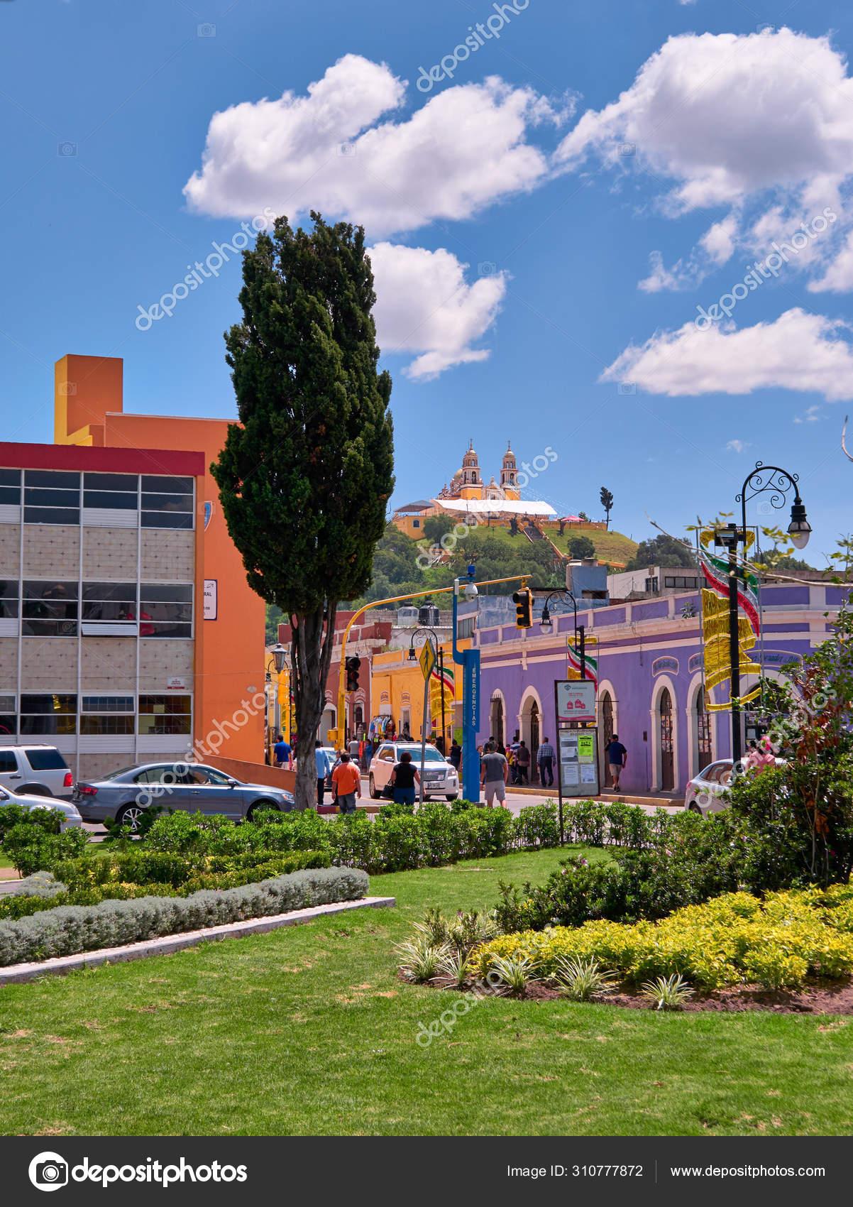 Plaza De La Concordia garden of plaza de la concordia in san pedro cholula – stock