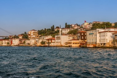 The Ottoman era villas and low-rise buildings on the Asian coastline of the Bosphorus Strait, Istanbul