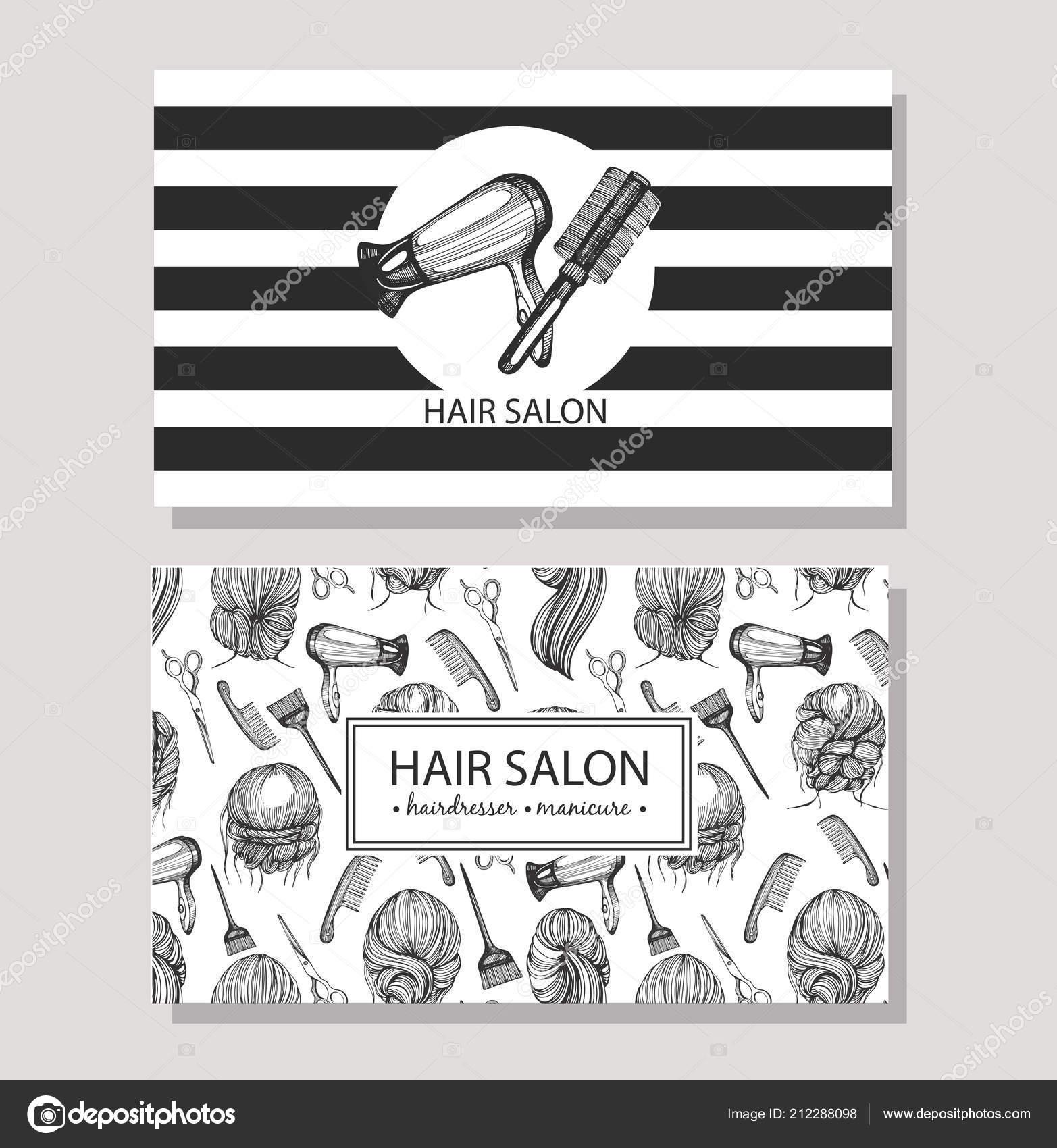 Visitenkarten Mit Vorlagendesign Für Friseursalon