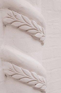 "Картина, постер, плакат, фотообои ""элементы архитектурных украшений зданий, гипсовая лепнина, текстура стен, гипсовые орнаменты и узоры"", артикул 294530514"