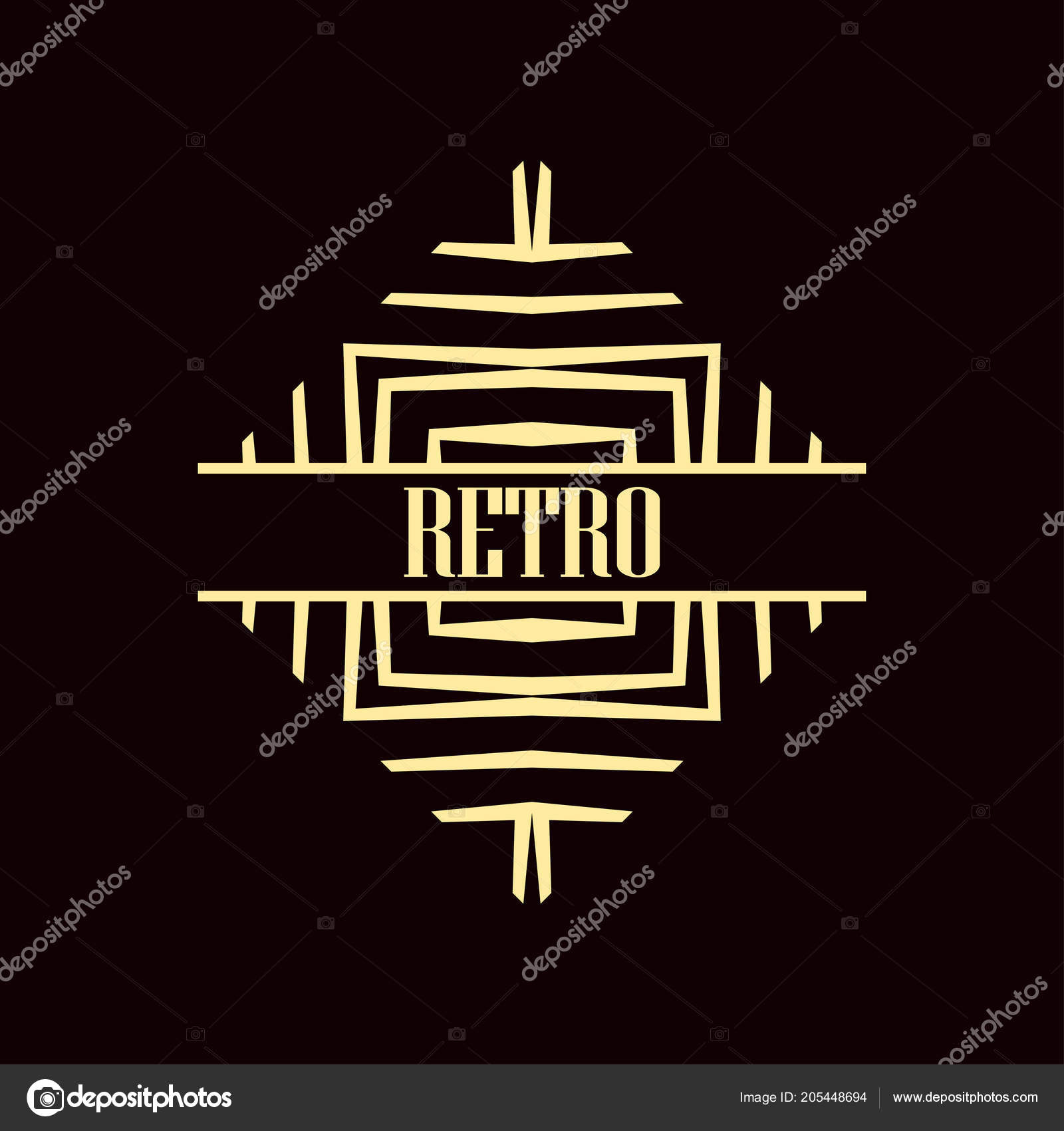art deco logo stock vector paykvector 205448694