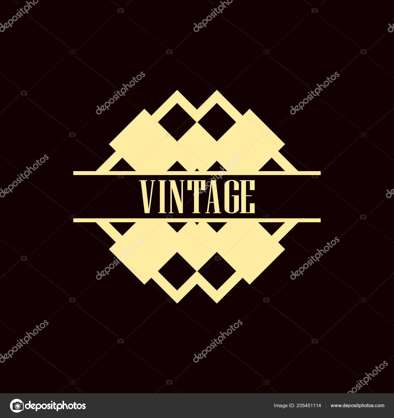art deco logo stock vector paykvector 205451114