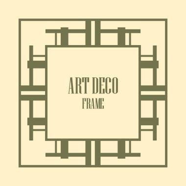 Art Deco Border Frame