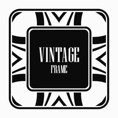 Vintage art deco frame