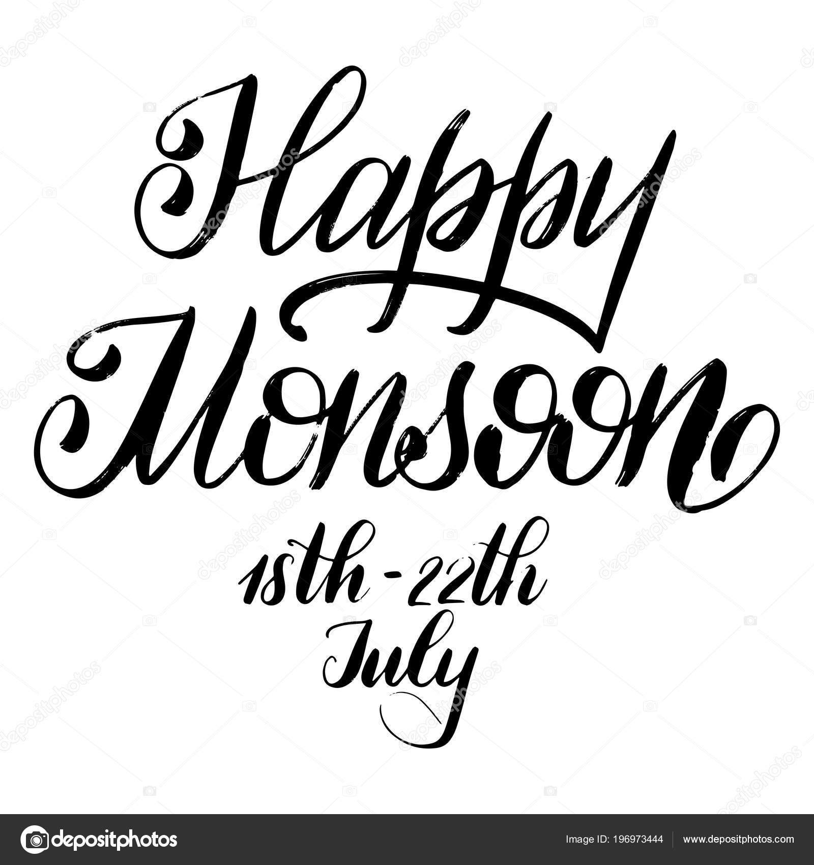 Happy Monsoon Day Stock Vector Kandella 196973444