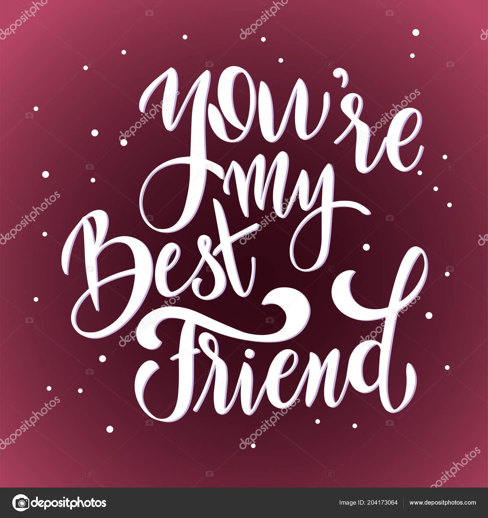 Citaten Voor Vriendschap : Vriendschap dag hand getrokken belettering u2014 stockvector © kandella