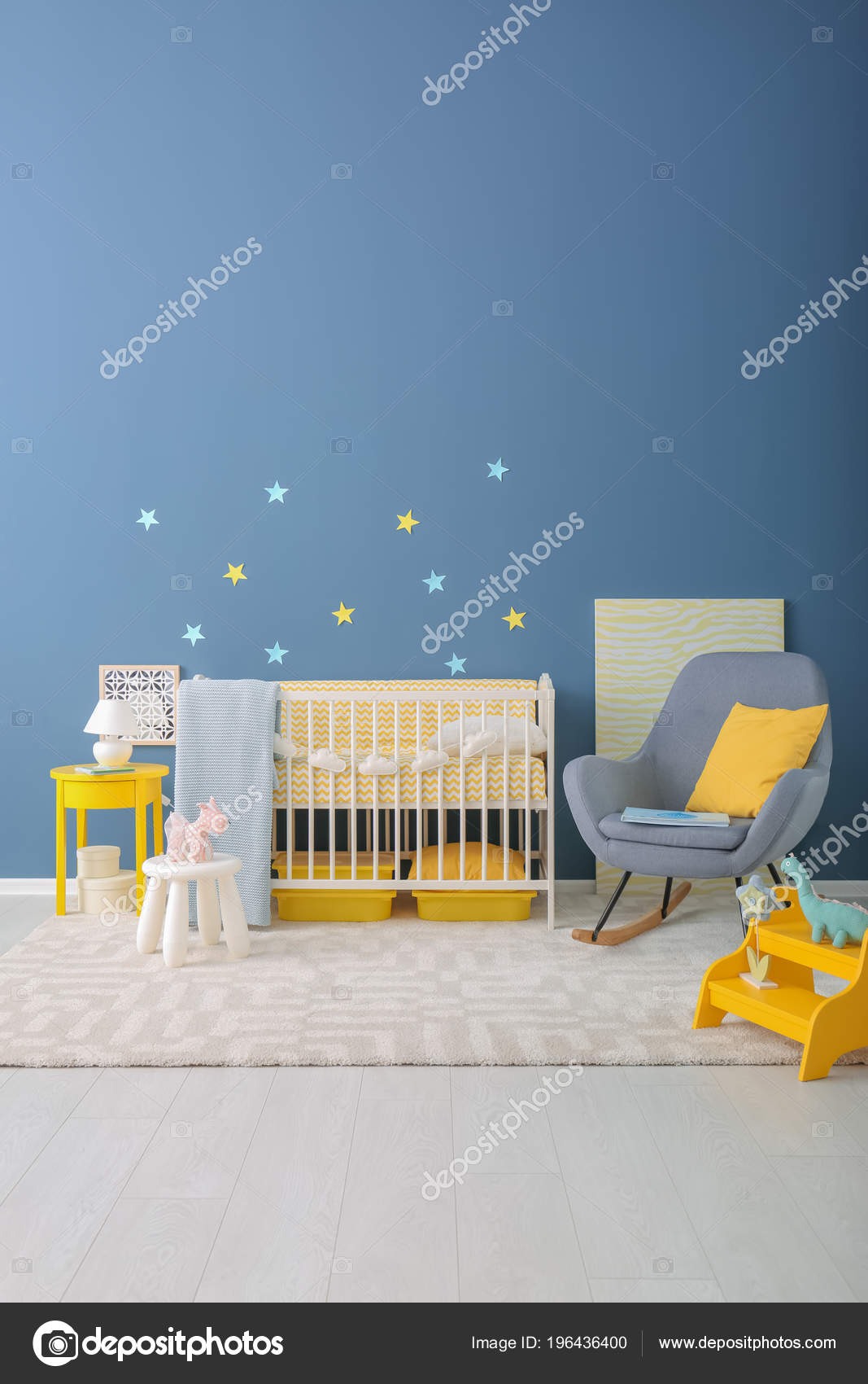Peachy Baby Room Interior Crib Rocking Chair Wall Stock Photo Ncnpc Chair Design For Home Ncnpcorg