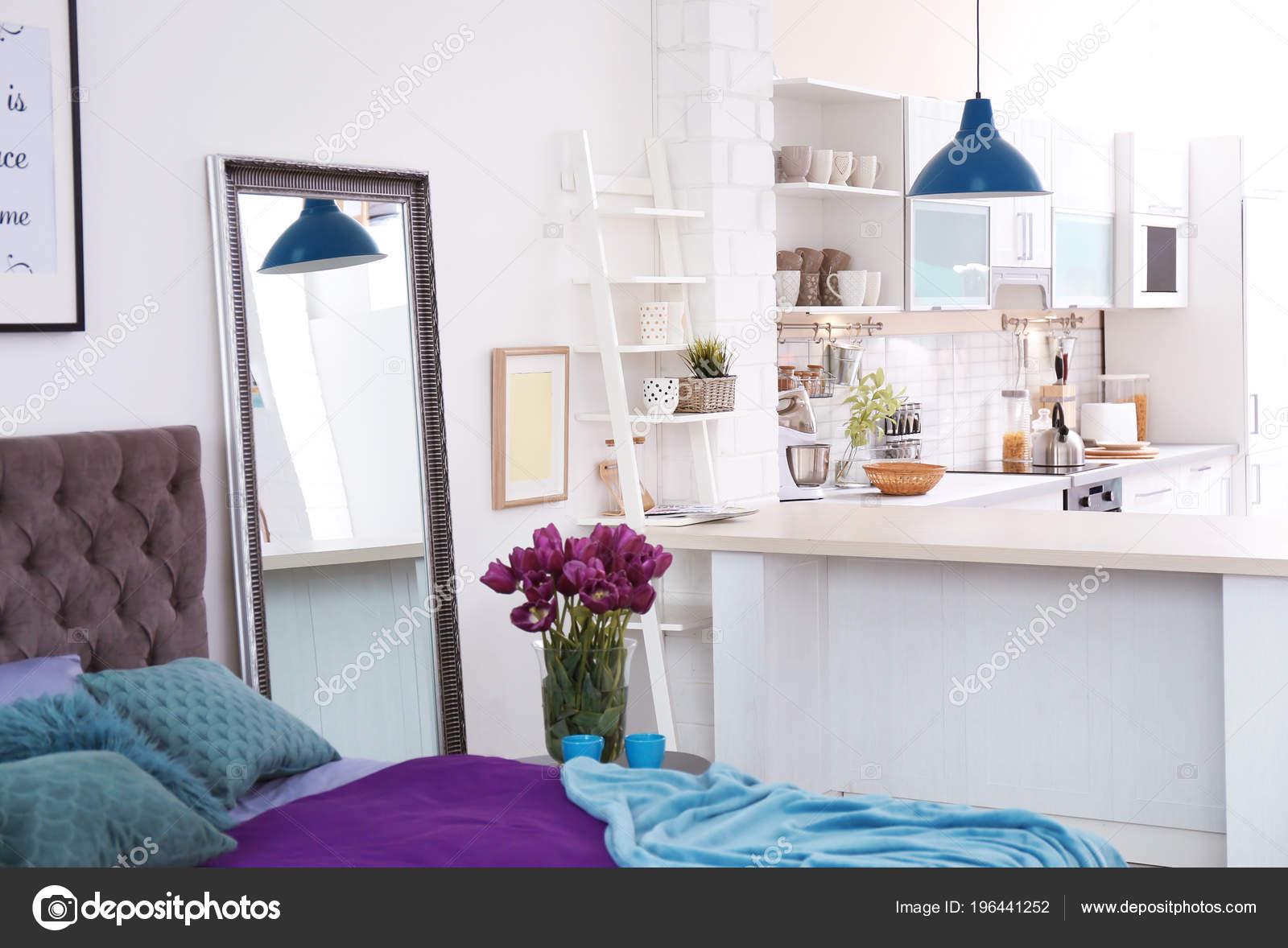 Interior Con Estilo Apartamento Con Cocina Idea Diseño Para Hogar ...