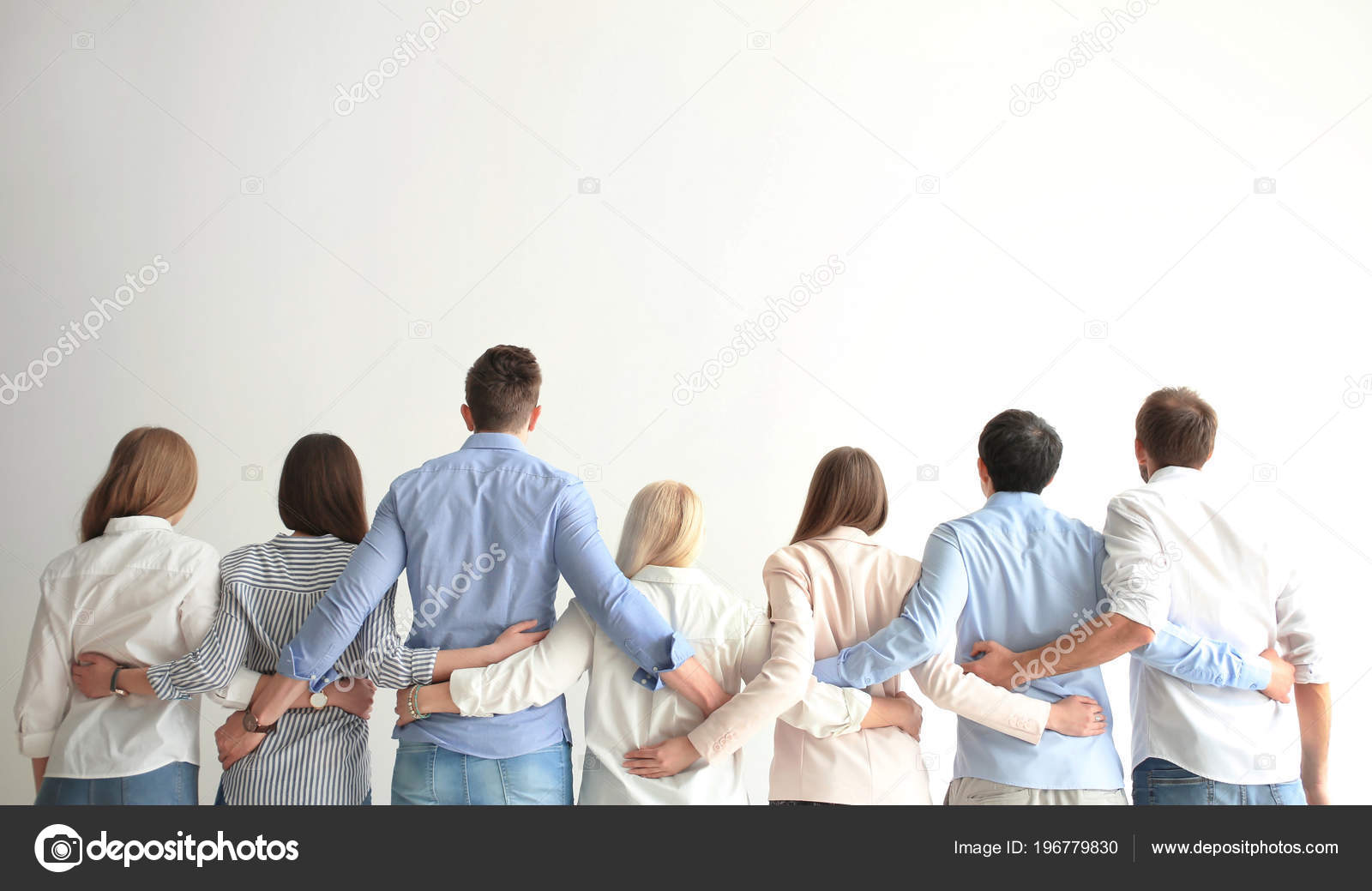 People Holding Hands Light Background Unity Concept — Stock