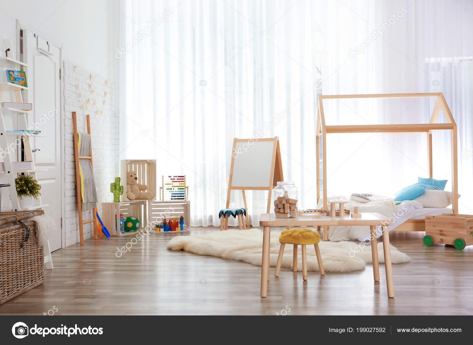 Réglage Intérieur Chambre Enfant Moderne Idée Décoration ...