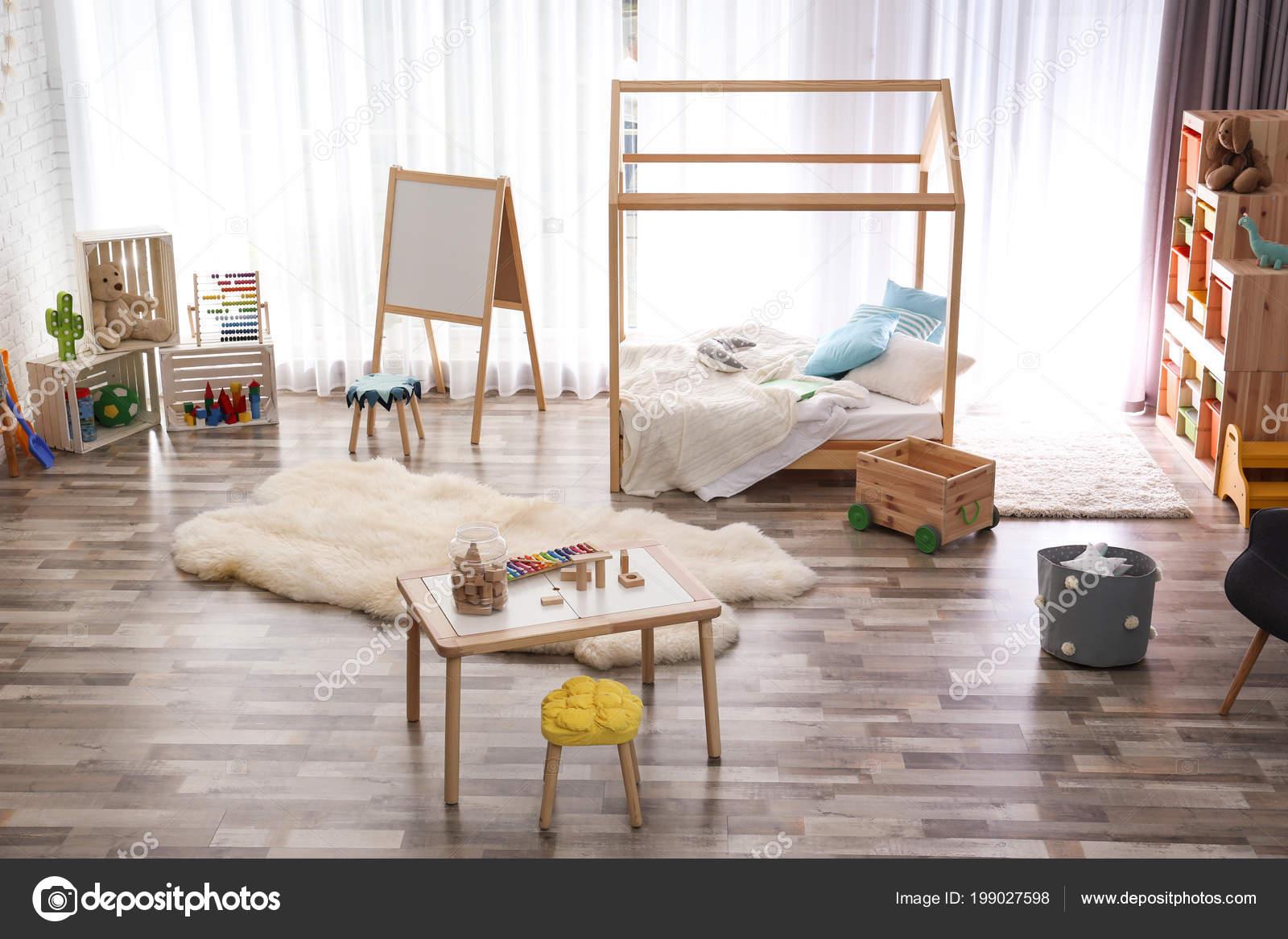 Moderne Kind Zimmer Interieur Idee Für Wohndesign — Stockfoto ...
